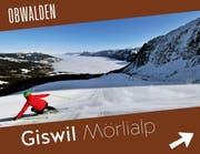 Das Skigebiet Mörlialp wird mit dieser Tafel beworben. (Bild: PD)