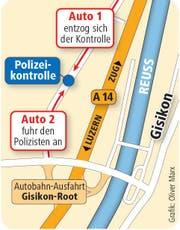 Der Unfallort liegt nahe der Autobahn auf Inwiler Gemeindegebiet. (Bild: Neue LZ)