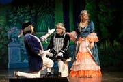 Das Ensemble des Märchentheaters Triengen zeigt noch bis zum 20. Dezember das Grimm-Märchen «König Drosselbart» im Forum Triengen. (Bild: Manuela Jans-Koch)