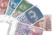 Die Scheine der sechsten Banknotenserie, eingeführt 1976. (Bild: Archiv der SNB)