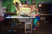 Besuch im Atelier der Innendekoration von Monig Z`Rotz. (Bild: Nadia Schärli / Neue LZ)