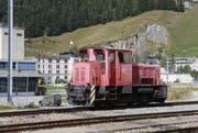 Eine Diesel-Rangierlokomotive des Typs Tm 2/2. Eine Lok der gleichen Bauart ist mit vier Waggons führerlos die Schöllenen hinuntergedonnert. (Bild: Florian Arnold / Neue UZ)