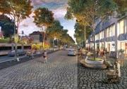 Der Ebikoner Gemeinderat prüft zusammen mit dem Kanton Luzern unterschiedliche Möglichkeiten für die Kantonsstrassensanierung. Die Visualisierung aus dem Masterplan Ebikon ist eine Option. (Bild: Visualisierung PD)