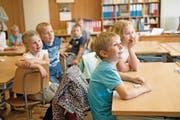 Vor einem knappen Jahr starteten diese Kinder aus dem Eigenthal ihre Schulkarriere. (Bild: Corinne Glanzmann (Eigenthal, 22. August 2016))