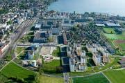 Blick auf das Zentrum Nord der Stadt Zug. (Bild: www.andreasbusslinger.ch)