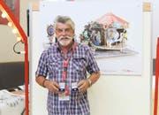 Bei den erwachsenen Künstlern gewann Urs Hotz aus Kriens. Sein Werk trug den Titel «met em Grosi a de Chelbi». (Bild: PD)