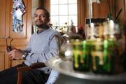 Brahim Aakti ist ursprünglich Marokkaner und heute Krienser Einwohnerrat und Mitglied der Bürgerrechtskommission. Fotografiert am 12. März 2013 bei ihm zuhause in Kriens. NLZ Boris Bürgisser (Bild: Boris Bürgisser (Kriens, 12. März 2013))