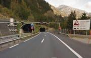 Der Naxbergtunnel zwischen Göschenen und Wassen. (Bild: Google Maps)