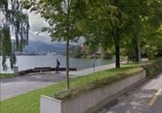 Der Luzerner Quai soll nach Ansicht von Fussverkehr Schweiz auch künftig velofrei bleiben. (Bild: Google Maps)