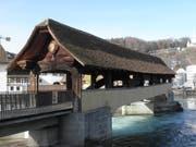 Die Spreuerbrücke nach der Sanierung (Bild: Philipp Berger/Luzernerzeitung.ch)