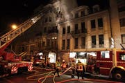 Die Haldenstrasse musste während des Feuerwehreinsatzes gesperrt werden. (Bild: Feuerwehr Stadt Luzern)