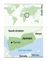 Jemen liegt südlich von Saudi-Arabien. (Bild: mlu)