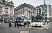 Der Schwanenplatz soll von Cars befreit werden – und für Touristen trotzdem gut erreichbar bleiben. (Bild: Pius Amrein (Luzern, 2. Februar 2017))