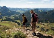 Körperliche Leistung, Gemeinschaftsgefühl, Naturerlebnis, Genuss: Wandern ist die Königsdisziplin der menschlichen Fortbewegung (hier im Säntisgebiet). (Bild: Urs Jaudas)