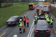 Blick auf die Unfallstelle. (Bild: Luzerner Polizei)