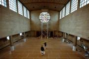 Die Preisverleihung wird in der sanierten und umgebauten Maihofkirche stattfinden. Zur Zeit der Aufnahme im November 2013 waren die Arbeiten noch in Gange. (Bild: Dominik Wunderli / Neue LZ)