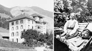 Im Hotel Mariental (links) residierte das Ehepaar Lenin/Krupskaja (rechts) während seiner Zeit in Sörenberg. (Bild: Kantonale Denkmalpflege Luzern (Emil Goetz)/Getty)