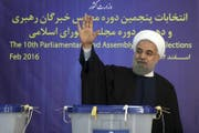 Irans Präsident Hassan Rohani: «Wir werden unsere Verpflichtungen erfüllen und hoffen, die andere Seite wird das Gleiche tun.» (Bild: Keystone, Teheran, 26. Februar 2016)
