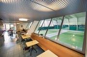 Blick vom Restaurant Smash auf die Tennisfelder. (Bild: Eveline Beerkircher (Luzern, 21. Juni 2016))
