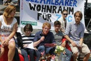 Im Juni 2014 lancierten Jungpolitiker der Linken die Wohnrauminitiative. (Archivbild Stefan Kaiser/ZZ)