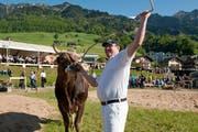 Andi Imhof gewann vor einem Jahr das 111. Ob- und Nidwaldner Schwingfest. (Bild Dominik Wunderli)