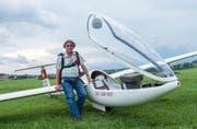 Erwin Stalder ist seit 48 Jahren begeisterter Segelflieger. (Bild: Dominik Wunderli (Beromünster, 24. August 2017))