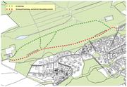 Der Schwyzerhüsliweg wird während der Bauzeit von Lastwagen benutzt. Deshalb müssen Fussgänger eine andere Route wählen. (Bild: pd)