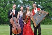 Das Trio Fontane wird zusammen mit Nicolas Senn (rechts) am Klassik-Osterfestival in Andermatt auftreten. (Bild: Nicolas Senn / eastdesign.ch)