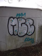 Graffiti an einer Betonwand. (Bild: PD)