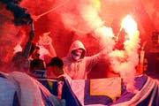 Hooligans im Stadion. (Archivbild: Philipp Schmidli)