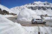 Seit Freitag, 11 Uhr, ist der Gotthardpass für den Verkehr wieder freigegeben. (Bild: Keystone)