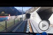 Testfahrt durch den Gotthard-Basistunnel. (Bild: Keystone)