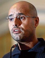 Saif al-Islam al-Gaddafi auf einer Archivaufnahme von 2011. (Bild: Ben Curtis/AP)