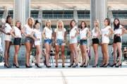 Gruppenbild aller Miss-Zentralschweiz-Kandidatinnen. Auf dem Bild fehlt: Valentina Tuoto. (Bild PD)