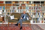 Christoph Blocher (75) in seiner Villa in Herrliberg. (Bild Nadia Schärli)