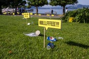 Die Rössliwiese als Müllhalde. (Bild: PD)