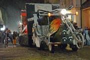 Die Rocker ziehen bei Schnee in Engelberg ein. (Bild: Beat Christen)