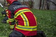 Insgesamt 45 Feuerwehrleute standen im Einsatz (Symbolbild). (Bild: Pius Amrein / Neue LZ)
