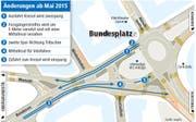 Bundesplatz: Was ab Mai 2015 anders wird. (Bild: Grafik: mop/ls)
