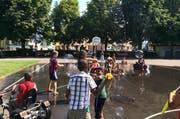 Kinder beim Spielen auf dem Maihof-Pausenplatz. (Bild: zvg/Stadt Luzern)