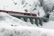 Die Matterhorn-Gotthard-Bahn zwischen Göschenen und Andermatt. (Bild: Archiv Keystone)