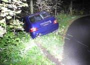 Der Unfallfahrer entfernte von seinem Auto das hintere Kontrollschild. (Bild: Kapo Schwyz)