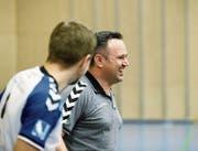 Der neue Zuger Cheftrainer Sascha Rhyner (rechts). (Bild: Stefan Kaiser (Oberägeri, 26. November 2016))
