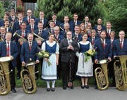 Die Brass Band Harmonie Neuenkirch am «Whit Friday» in England. (Bild: Pascal Muff (9. Juni 2017))