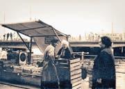 Marie Gössi stand jahrein, jahraus am Wochenmarkt. (Bild: Familienarchiv)