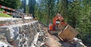 Bauarbeiten an der Ibergereggstrasse (Archivbild). (Bild: Franz Steinegger / Bote der Urschweiz)