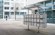Firmen mit ausländischen Muttergesellschaften kommen unter Druck: Briefkasten in der Stadt Zug. (Bild: Alexandra Wey/Keystone (7. Januar 2017))