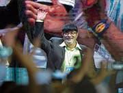 Farc-Chef Rodrigo «Timochenko» Londoño am Parteikongress. (Bild: Raul Arboleda/AFP (Bogotá, 27. August 2017))