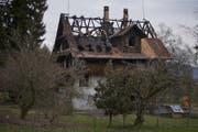Das Haus aus dem 18. Jahrhundert brannte in der Nacht auf den 6. März 2018. (Bild: Stefan Kaiser)