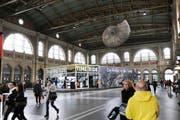 Die virtuelle Zeitreise «Time Ride» machte auch im Hauptbahnhof Zürich Halt. (Bild: PD)